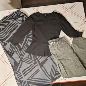 Petite Skirt Top Pants Lot XS